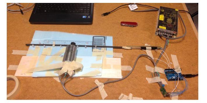 Figure 25. P controller test setup before hard mounting onto base plate
