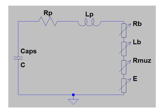 Figure 17-Capacitive Discharge equivalent circuit
