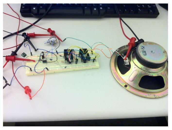 Figure 14: Power Amplifier and Speaker
